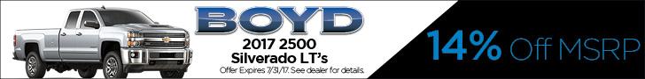 Boyd July Silverado 2500