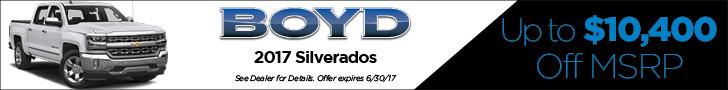 Boyd June 2017 Silverado $10,400