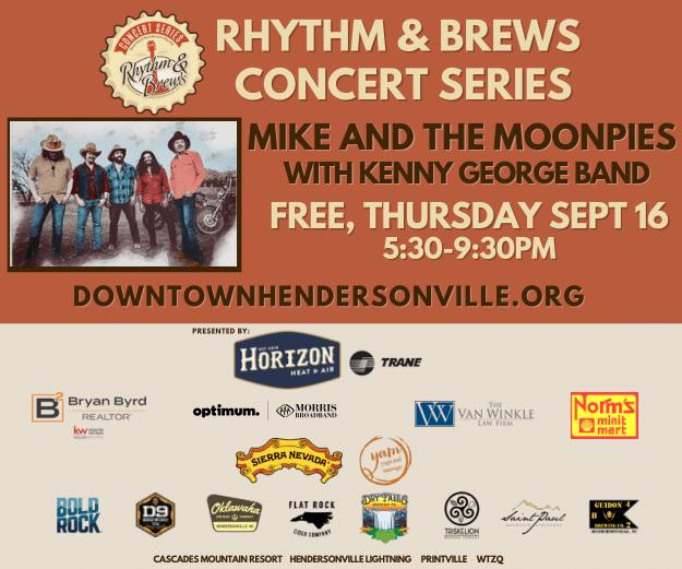 DowntownHendersonville_Rhythm&Brews 2021 Septemberr