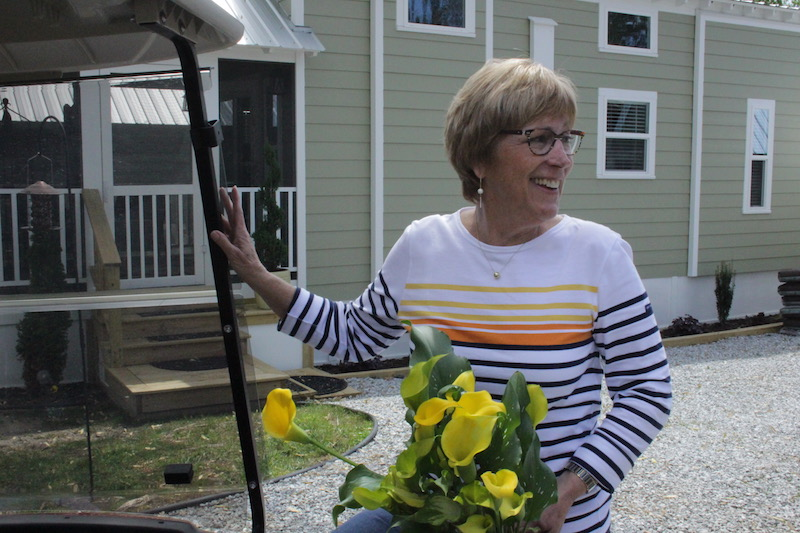 Homeowner Pam McMaster has downsized four times and settled in a 40-square-foot cottage.