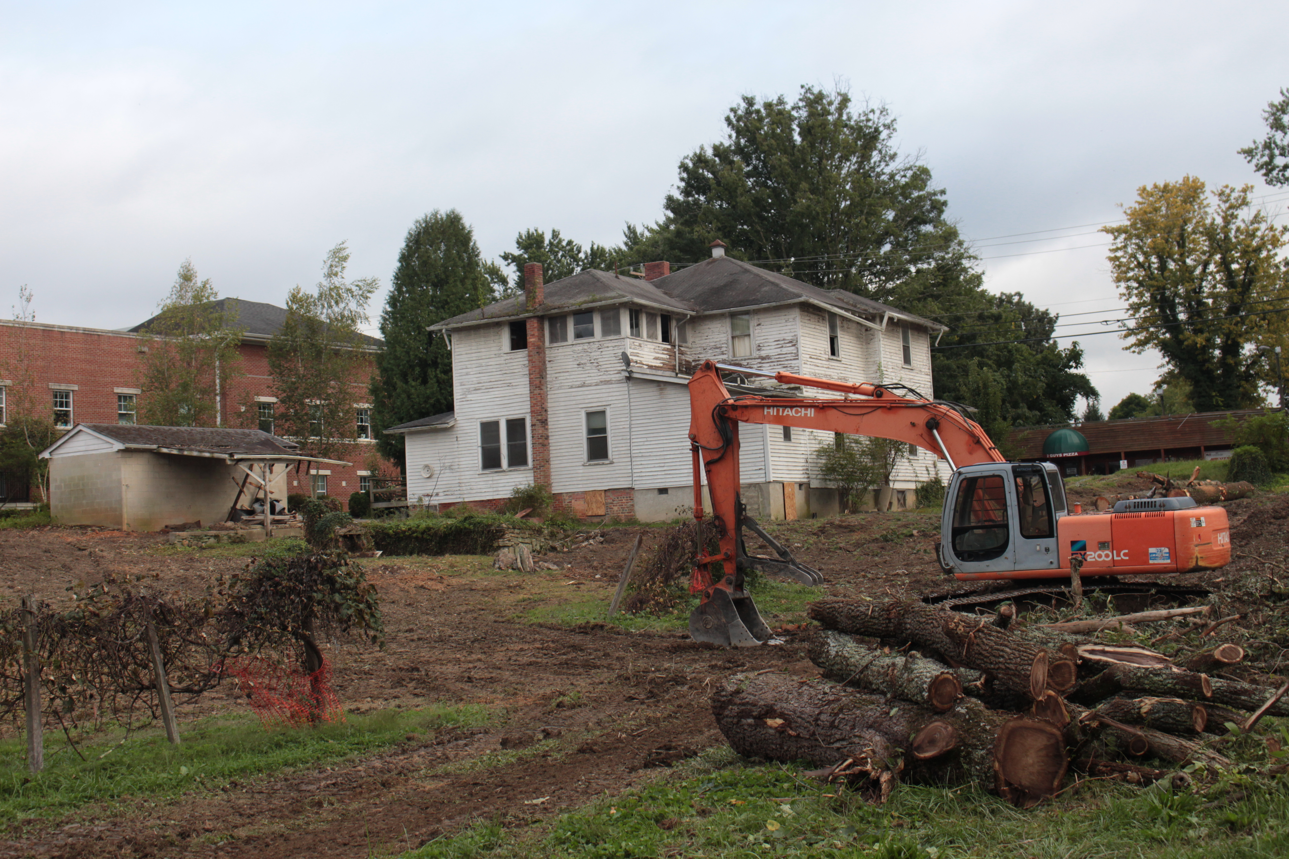 Lot clearing is under way for the new health sciences building on Sixth Avenue at Oak Street.