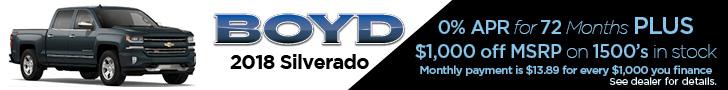Boyd Feb 2019 Silverado 2018