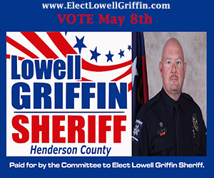 Lowell Griffin Sheriff April 2018