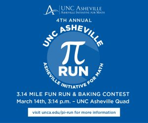 Asheville Pi Run March 14 2PM
