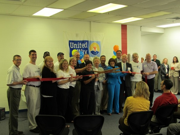 United Way, Kimberly-Clark and friends celebrate new United Way offices donated by the plant.