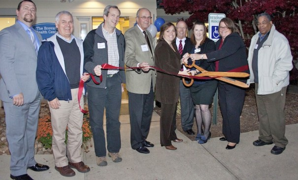 BRCHS and Transylvania County officials cut ribbon for Brevard health center.