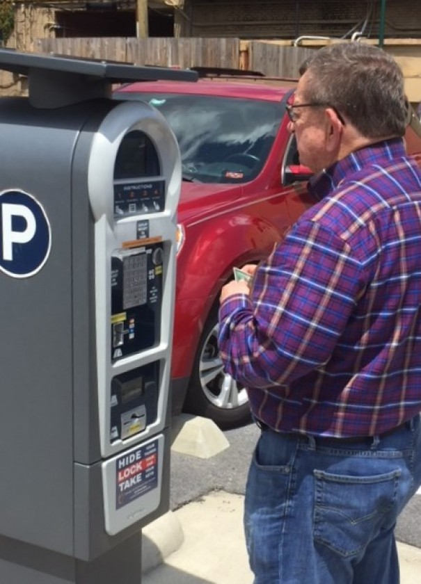 Asheville paid $900 each for its parking meters while Hendersonville opted for $16,000 kiosks that serve all the meters in each lot.