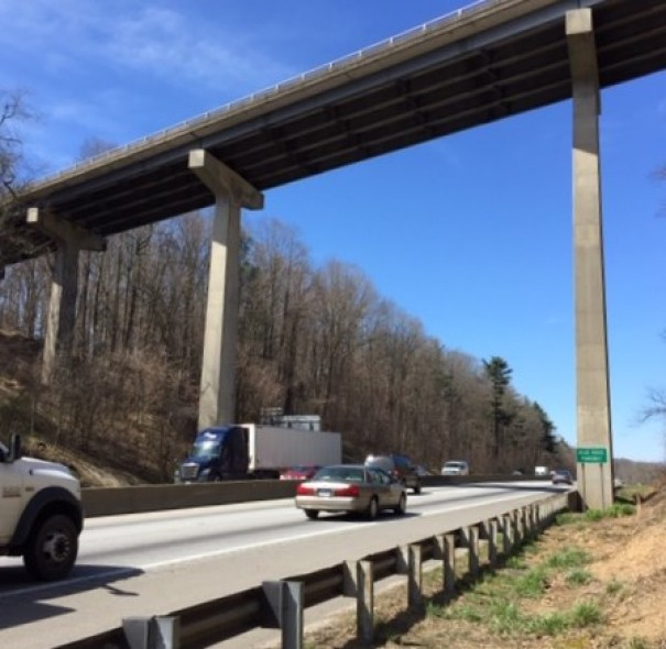 A new Blue Ridge Parkway bridge spanning I-26 will replace the current structure as part of the project to widen I-26 to eight lanes from Asheville Highway to I-40.