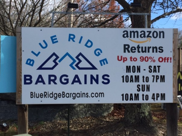"Blue Ridge Bargains sells ""open box returns"" it gets by the truckload from Amazon."