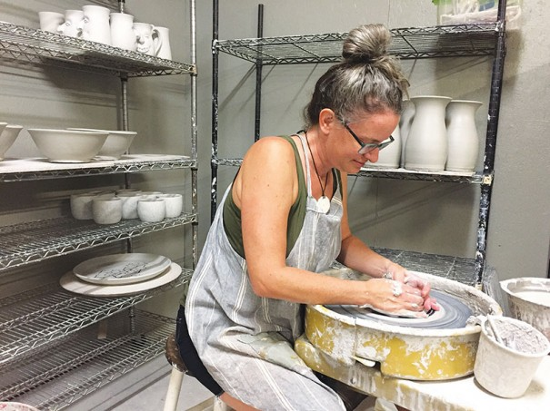 Potter Meghan Bernard is among the artisans on the Blue Ridge Craft Trail. [CONTRIBUTED PHOTO]