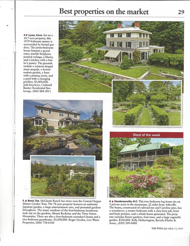 A home on Davis Mountain, lower right, is featured in The Week magazine.