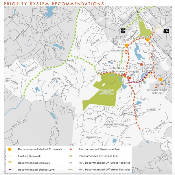A bicycle-pedestrian study recommended a variety of greenways and trails in Flat Rock. The Village Council voted last week to kill the plan.