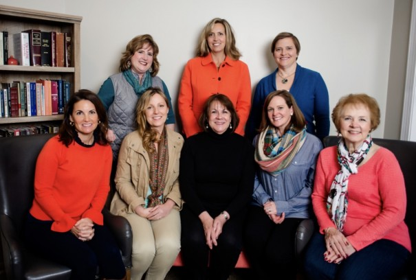Pictured, from left, are (front row) Suzanna Waddell, Wendy Crook, Denise Hanks, Katherine McDowell, Mary Lou Shepherd, (back row) Amy Elkins, Caroline Knox, Meredith Calhoun.