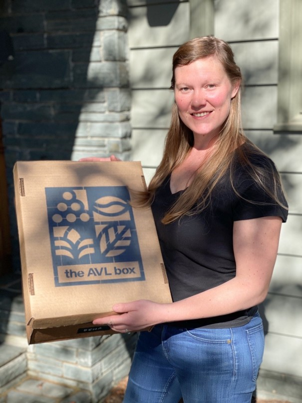 Cassie Cosgrove founded AVL Box, a web-based company that sells fresh produce, eggs and other locally sourced products for pickup and delivery. [GRACIE MILNER/Hendersonville Lightning]