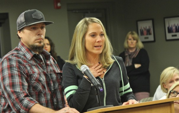 Chad and Lynda Whitehead, who live next to the property that would become a behavorial rehab facility, urged the Mills River Town Council to deny a zoning application.