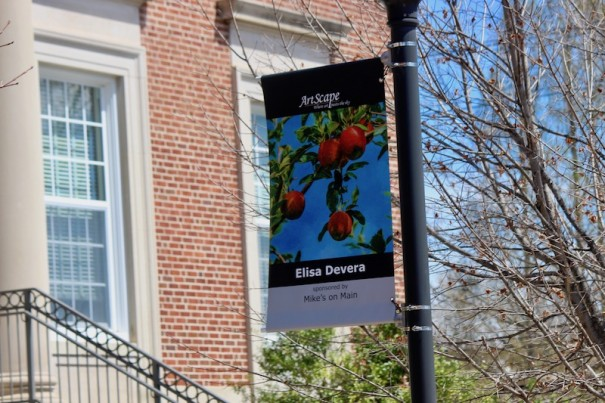 Artscape brought 41 banners downtown from the Visitors Center to Seventh Avenue East.