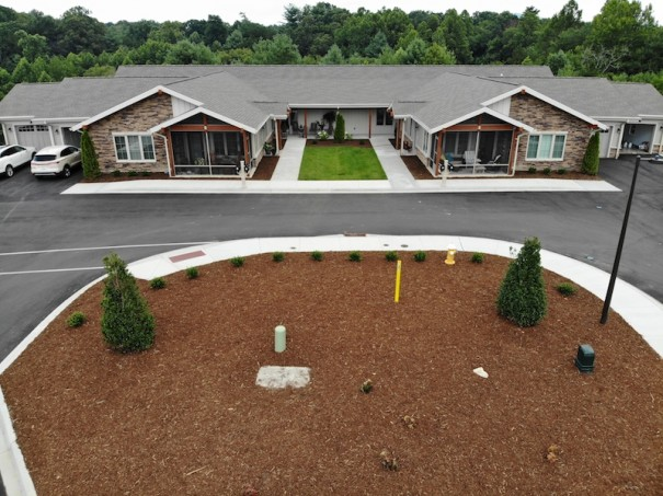 Clear Creek duplexes are among 90 new dwellings at Carolina Village.