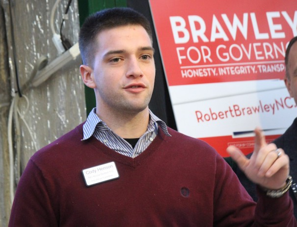 Cody Henson speaks at Henderson County Republican Party breakfast on Saturday, Jan. 17.