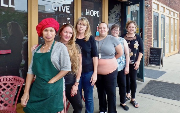 Dandelion cooks and servers are, from left, Rosie Loch, Jessica Conklin, Nicola Singer, Sarah Greene, Jacquetta Tyree and Sara Cole.