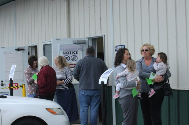 Voters enter the Board of Elections to cast ballots on Friday, Nov. 2.
