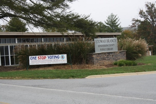 Etowah Library is one of four early voting sites in Henderson County.