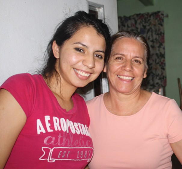 Andrea Espinosa and her mother, Maria Silva,