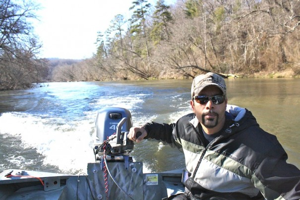 Bryan Jeffords enjoys fishing for muskie on the French Broad.