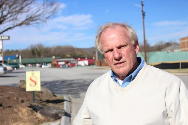 Landowner Gary Jones has sued Ingles and the city of Hendersonville over the closing of two streets that run through property owned by Ingles and other businesses.