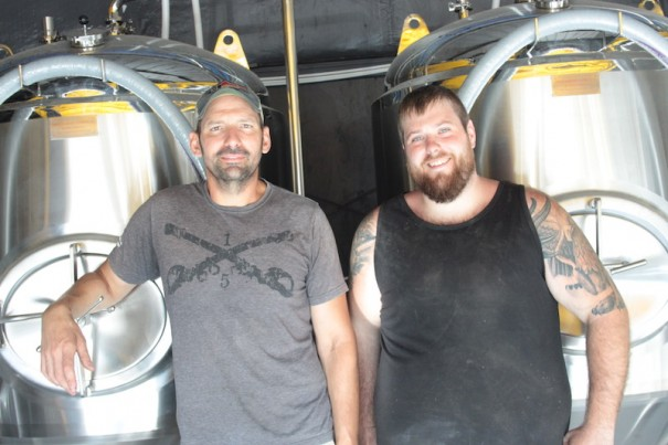 Owner Mike Baer and brewer Dustin Griffin plan to open Guidon Brewing Co. up the hill from Southern Appalachian Brewing Co.