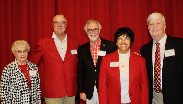 Hall of Fame inductees were Tom Williams, represented by his widow Kay, Jim Sparks, Carey O'Cain, Betty Gash and John Whitmire.