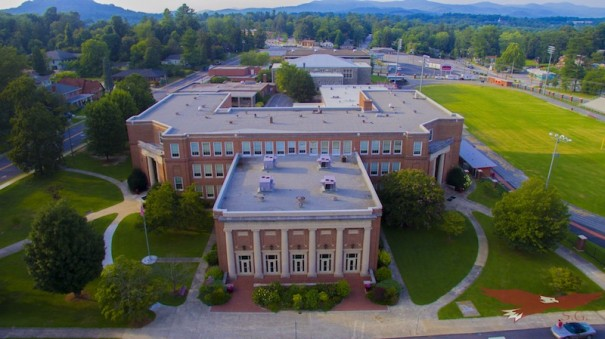 HHS as seen from a drone photo. [PHOTO BY DAVID RHODE]