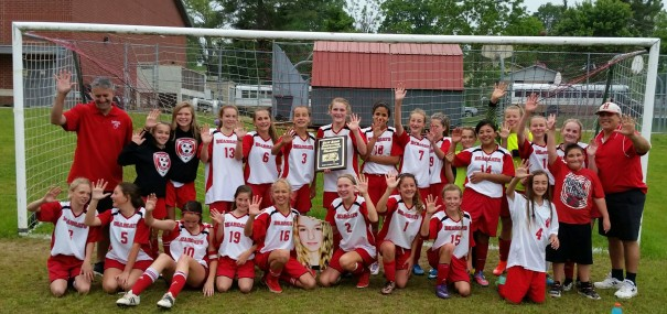 HMS Lady Bearcats won the Blue Ridge Conference soccer title for a fifth straight year on Friday.