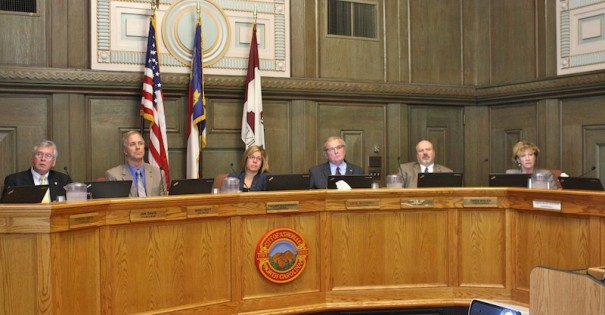 The Asheville City Council debated a revised water agreement on Tuesday, April 22.