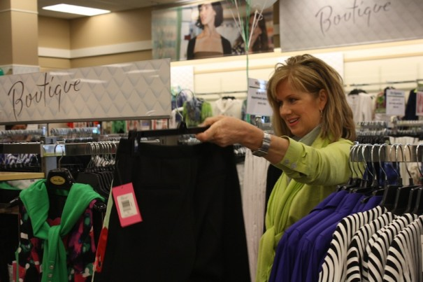 Carey White shops at the new Stein Mart.