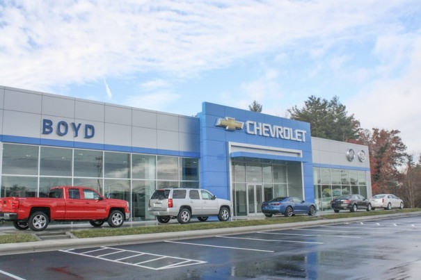 Boyd Chevrolet will open on Spartanburg Highway next week.