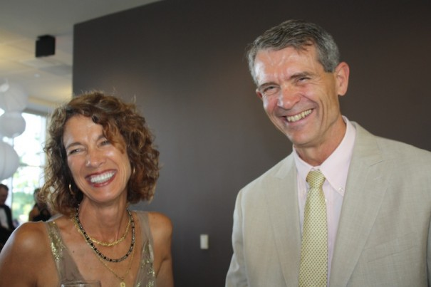 Marnie McClung and Dr. Ken Shelton enjoy Pardee Hospital's Diamond Jubilee.