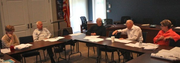 Flat Rock Village Council and park advisory committee discuss park improvements and costs.