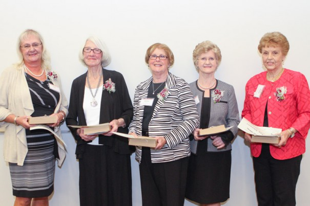 "2015 Education Hall of Fame inductees were Barbara T. ""Susie"" Brown, Julia Justus Lappin, Shirley McGee, Peggy C. Simmons and Shirley Ray Whitmire."