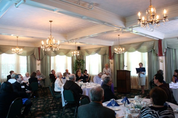 Church leaders commemorated the 100th anniversary of founding of Immaculate Conception Catholic Church during a luncheon Saturday at the Cedars.