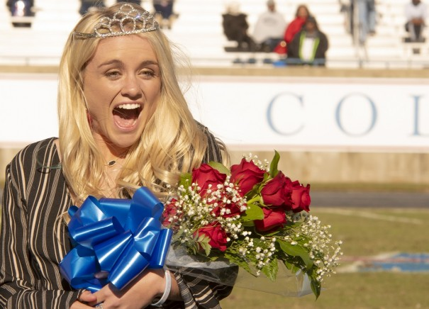 Jonnie Petree was crowned homecoming queen at Presbyterian College.