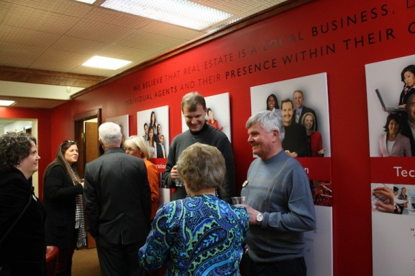 Brokers and guests visited new Keller Williams office on South Main on Feb. 1.