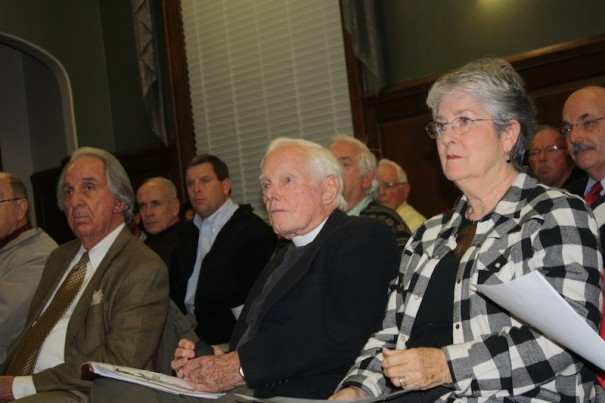 Ken Kinnett and his wife, Loyd, and three other speakers asked the City Council to ban the sale of assault rifles.