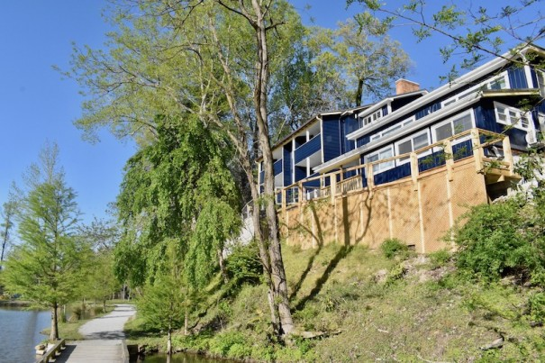 A deck overlooking Rhododendron Lake Nature Park may have to be removed because it's too close to the property line, Laurel Park officials say.