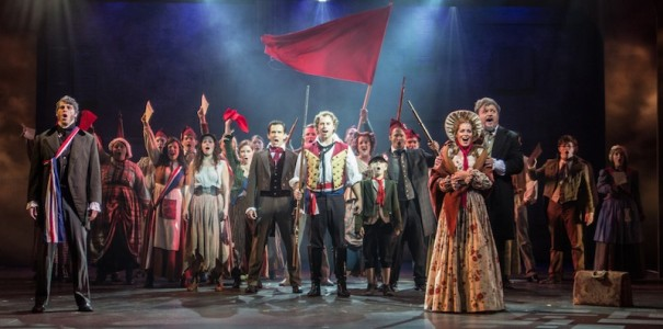 The cast of 'Les Miserables' performs the finale.