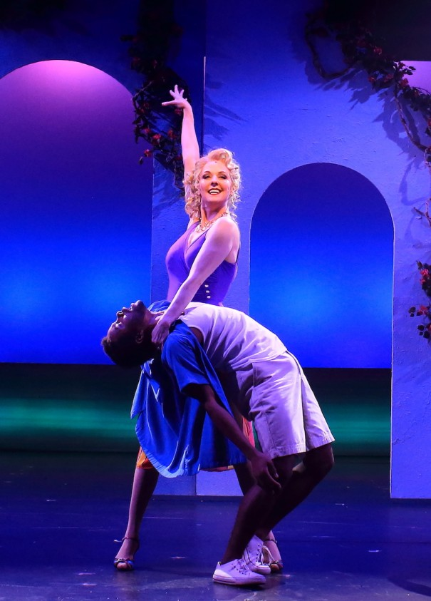 Angie Schwerer and Travante Baker perform in 'Mamma Mia' at Flat Rock Playhouse. [TREADSHOTS PHOTO]