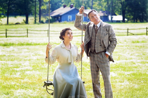 Brian Robinson and Erin Rubico star in 'The Music Man' at Flat Rock Playhouse. [PHOTO BY SCOTT TREADWAY/TreadShots]