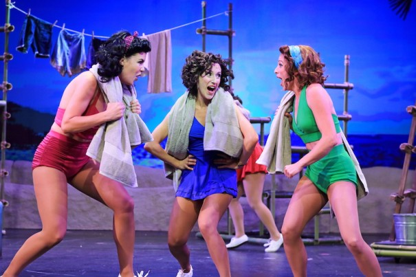 Maddie Franke, Sarah Stevens and Maria Buchannan perform in 'South Pacific.' [Photo: Scott Treadway/Treadshots]