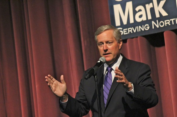 U.S. Rep. Mark Meadows speaks at a Town Hall meeting on Friday, Aug. 29, at BRCC.