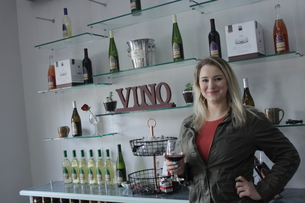Meredith Ward manages the Saint Paul Mountain Vineyards tasting room in Flat Rock.