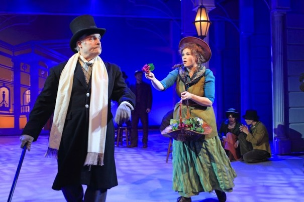 Stacie Bono stars as Eliza Doolittle and Paul Carlin is Col. Pickering in 'My Fair Lady'
